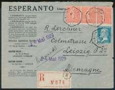 Frankreich 1929, ESPERANTO R-Brief MONTPELLIER - LEIPZIG (71614)