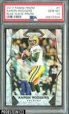 2017 Panini Prizm Blue Wave #1 Aaron Rodgers Green Bay Packers PSA 10