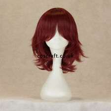 Medium flick cosplay costume wig in mahogany red, UK SELLER, Ash style