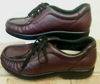 SAS Take Time Shoes Women Leather Burgundy 7.5 M Wore Once