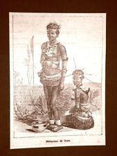 Sudafrica nel 1879 Ballerine Trubù dei Zulu o Zulù Nazione Ngoni Africa