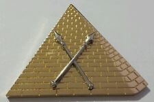 Shriners First Ceremonial Master Officer Collar Jewel in Gold Tone