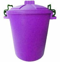 LILAC 50L 50 Litre Plastic Colour Bin Garden Rubbish Waste Dustbin Recycle Value