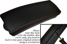 RED STITCH FITS TOYOTA PRIUS T3 T4 2009-2012 LEATHER ARMREST SKIN COVER ONLY