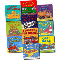 Amazing Machines Truckload Children Collection 10 Flat Books Set | Tony Mitton