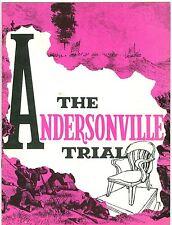 The Andersonville Trial souvenir theatre program Brian Donlevy Martin Brooks
