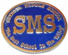 Seymour Middle School SMS Connecticut Commemorative Medallion Pendant Vintage