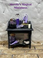 Witches Desk Dresser Fully Stocked Doll House 1/12 Merrily's Magical Miniatures