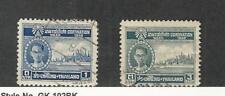 Thailand, Postage Stamp, #280, 282 Used, 1950