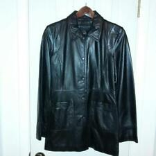 KENNETH COLE REACTION BLACK LEATHER JACKET SIZE M MEDIUM NWOT
