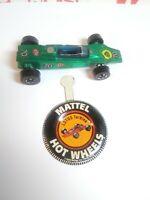 Original Hot Wheels 1969 Redline LOTUS TURBINE WITH BUTTON - GREEN- #239