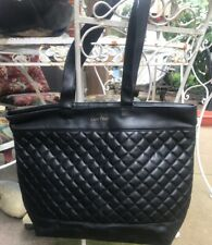 LANCÔME LARGE QUILTED TOTE BAG PURSE FAUX LEATHER