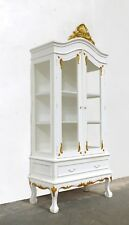 FRENCH STYLE 2 DOOR DISPLAY CABINET SHABBY CHIC WHITE