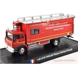 Renault Vehicule Risque Chimique 2005 1:80 Del Prado Camion pompiers Diecast 134
