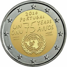 2 EURO COMMÉMORATIVE 2020 ONU Portugal Portogallo Portugalia
