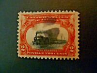 """USA 1901 $.02 #295 Pan-American Expo Issue """"Slow Train"""" EFO - See Description"""