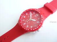 "Swatch: Cronografo "" Rosso Shadow "" ( Ref. No. SUSR400) So Buono come Nuovo/"