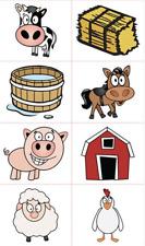 Farm Animal Tattoos x 16 - High Quality - Party Birthday Favours Farm Tattoos