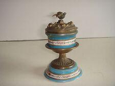 encrier ancien bronze porcelaine de sèvres ou Paris