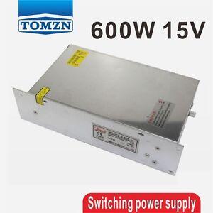 600W 15V 40A 220V input Single Output Switching power supply