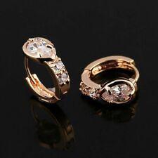 Ohrringe Creolen 750er Gold Vergoldet 18 Karat Creolen Zirkonia Rosegold Damen