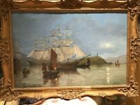 An Original Oil On Canvas By 19th Century Maritime Artist Phillip. Kilner Of A M
