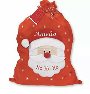 Christmas Red Large Santa Sack Bag Personalised Handcrafted HoHo Large Gift Xmas