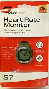 SportLine S7 Heart Rate Monitor Fitness Running Watch One Touch Technology New