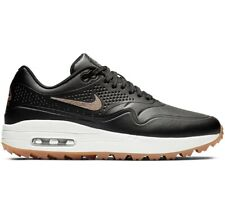 Nike Air Max 1 Golf Shoes Women's Size 9 Black Metallic Bronze AQ0865-002