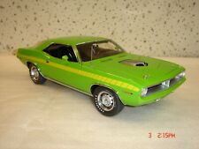 Danbury Mint 1970 Plymouth Cuda LE Green w/ Styrofoam box 1/24  NR