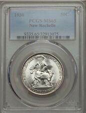 1938 New Rochelle Silver Commemorative Half Dollar PCGS MS65
