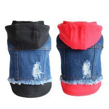 Cat Dog Blue Jean Jacket Denim Coat Small Puppy Hoodie Vest Pet Supplies Clothes