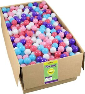 Click N Play Pack Of 1000 Crush Proof Pit Balls 5 Colors Little Princess Edition