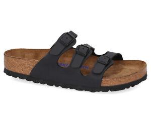 Birkenstock Unisex Florida BS Regular Fit Sandals - BlackAF74