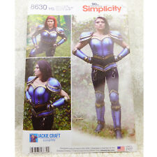 Simplicity 8630 Cosplay Armor Corset Gauntlet Costume Sewing Pattern 6-14 NEW!