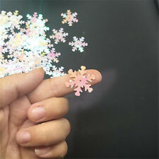 200Pcs Christmas Snowflake Applique Sequins Sewing Wedding Craft 23mm