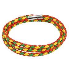 3 Tone Multi Weaved Triple Wrap Bracelet with Snap Closure Choose Color Combo