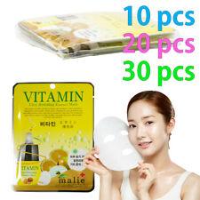 [Malie] VITAMIN Facial Mask Sheet Essence 10-30pcs Korean Beauty Cosmetics