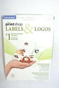 Broderbund The PrintShop Labels & Logos New-GENUINE- Sealed.