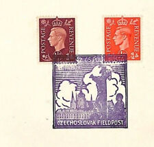 More details for gb cover kgvi ww2 allied forces super czech forces special postmark fpo 1942 r73