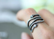 Snake Ring Antique Silver Ring Double Headed Adjustable Ring