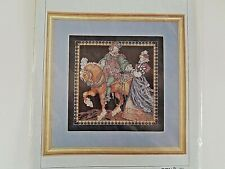 Renaissance Gentleman & His Lady Vermillion Counted Cross Stitch Chart
