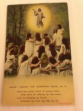 "Song Card ""When I Survey The Wondrous Cross"" Religious Bamforth Postcard - Stamp"