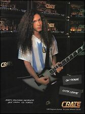 Megadeth Marty Friedman 1996 Crate Blue Voodoo guitar amps 8 x 11 ad print
