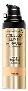 Max Factor Ageless Elixir Miracle Makeup Foundation Serum Sand 60 Sealed