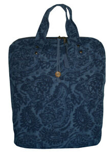Trussardi Borsa shopping Lino  blu 45 X 35 X 15 cm