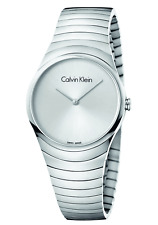 New Calvin Klein Whirl silver watch K8A23146 RRP £219