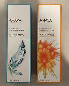 AHAVA - Dead Sea Mineral Shower Gel Set - 6.8 oz NIB - Sea-kissed & Mandarin
