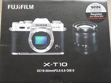Fuji X-T10 16.3MP Cámara sin espejo con 16-50 mm f3.5-5.6 Wifi Iphone Fujifilm