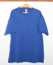 NOS Vintage RUSSELL ATHLETIC Blank Blue Single Stitch 100% Cotton T-Shirt Sz XXL